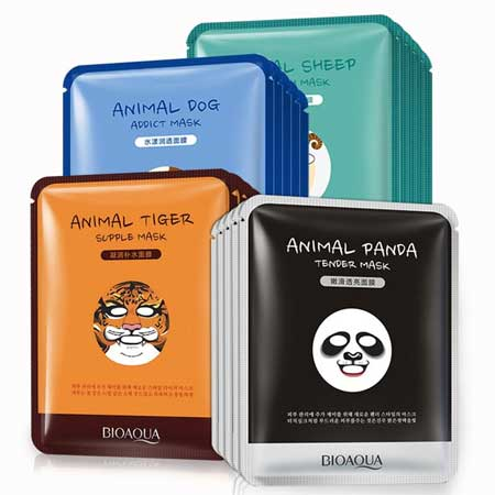 Sheet Mask Terbaik - Bioaqua Cute Animal Face Masks