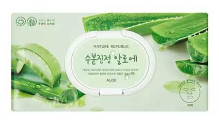 Sheet Mask Terbaik - Nature Republic Real Nature Aloe Moisture Daily Masksheet