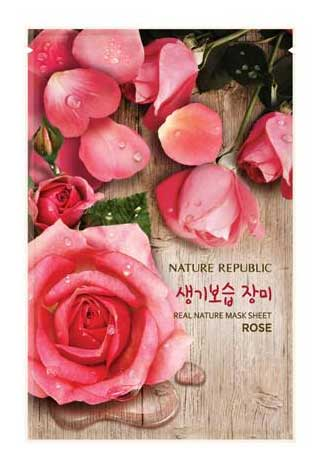 Sheet Mask Terbaik - Nature Republic Real Nature Mask Sheet Rose