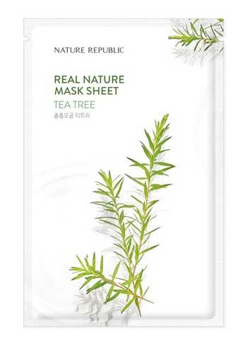 Sheet Mask Terbaik - Nature Republic Real Nature Tea Tree Mask Sheet