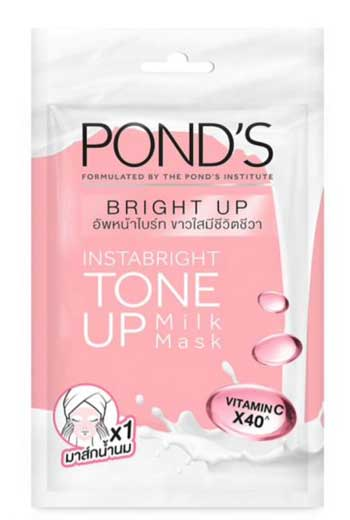 Sheet Mask Terbaik - Pond's Instabright Tone Up Milk Mask