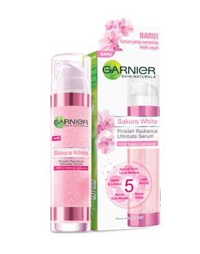 Skincare Untuk Kulit Kusam - Garnier Sakura White Pinkish Radiance Ultimate Serum