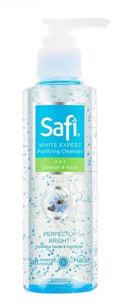 Skincare Untuk Kulit Kusam - Safi White Expert 2 in 1 Cleanser & Toner