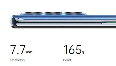 Spesifikasi Oppo Reno 4 - Body Slim