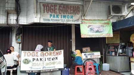 Tempat Wisata Kuliner Bogor - Toge Goreng Pak Gebro
