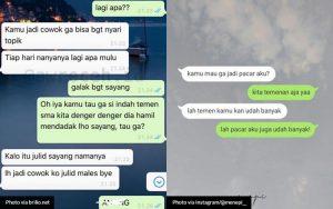 Chat Orang Pacaran Lucu
