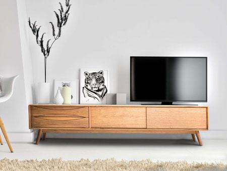 Rekomendasi Meja TV Minimalis Modern - Meja TV minimalis dari kayu