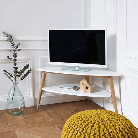 Rekomendasi Meja TV Minimalis Modern - Meja TV sudut yang simple dan elegan