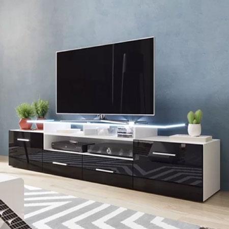 Rekomendasi Meja TV Minimalis Modern - Meja TV yang modern dengan LED