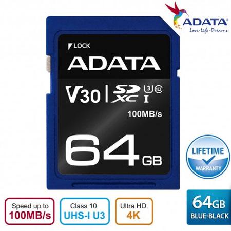 Rekomendasi Merk Memory Card Terbaik - ADATA Premier Pro SDXC UHS-I U3 Class 10 Memory Card 64 GB
