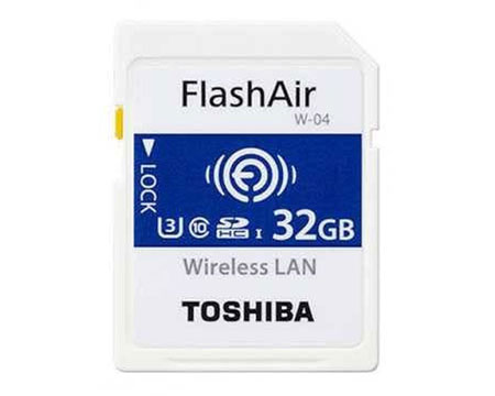 Rekomendasi Merk Memory Card Terbaik - Toshiba FlashAir Wireless Card 32GB WIFI SD CARD Flash Air W-04 UHS 3