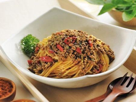 Aneka Resep Pasta - Resep Pasta Spagetti Rendang
