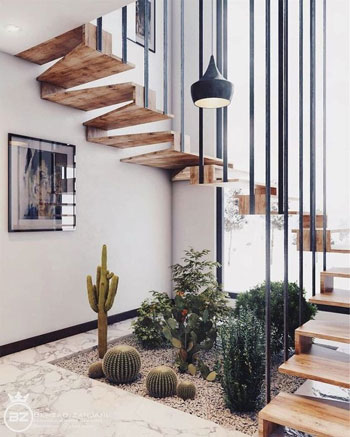 Inspirasi Desain Tangga Minimalis untuk rumah kecil