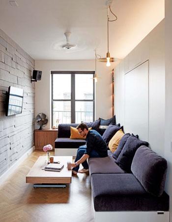 Inspirasi desain ruang keluarga kecil modern