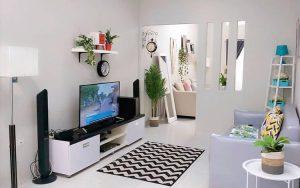 Desain ruang keluarga simpel minimalis
