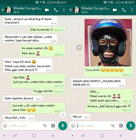 Deretan Chat Lucu Suami-Istri