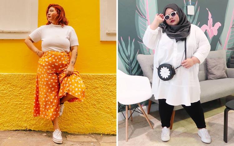 Outfit untuk wanita gemuk