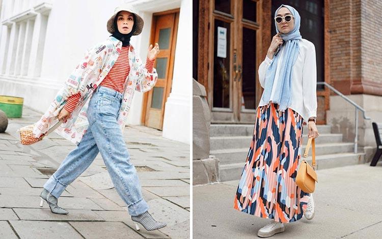 Mix and Match Hijab Kekinian Untuk Hangout
