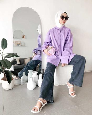 Inspirasi Outfit Warna Ungu