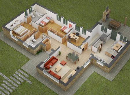 Inspirasi Desain Rumah Minimalis 2 Kamar
