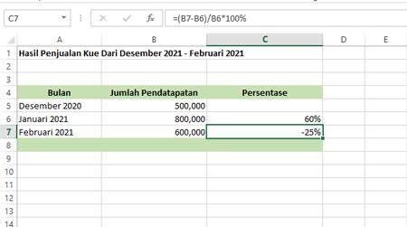 Rumus Excel Menghitung Persen Lengkap Dengan Contoh
