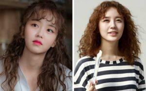 Artis Wanita Korea Dengan Gaya Rambut Kriwil Yang Bikin Pangling
