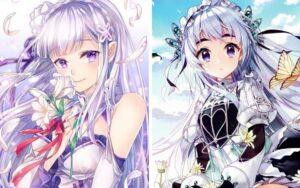 Karakter Anime Wanita Dengan Rambut Putih Abu-abu