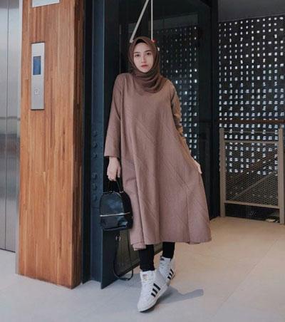 Inspirasi OOTD Hijab Dress Casual