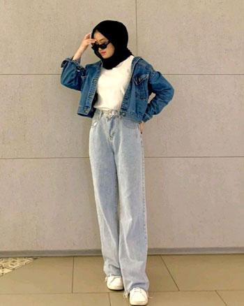 OOTD Jaket Crop Kekinian Untuk Hijab Dan Non Hijab