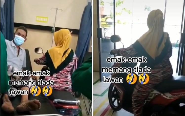 Video Emak-Emak Bawa Motor Ke IGD