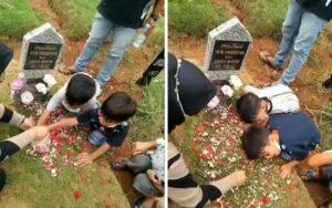 Video Mengharukan 2 Bocah Memanggil Almarhum Ibunya