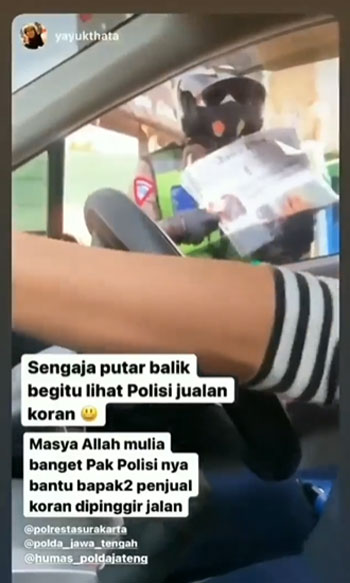 Video Polisi Jualan Koran di Pinggir Jalan, Ternyata Ini Alasannya
