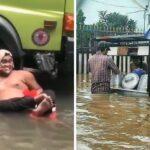 Kelakuan kocak warga +62 saat banjir