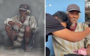 Kakek Pelukis Ini Habiskan Penghasilannya Untuk Sedekah