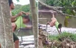 Keterlaluan! Seorang Ayah Siksa Dan Lempar Anaknya Ke Sungai