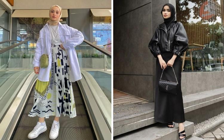 OOTD Hijab Rok Panjang