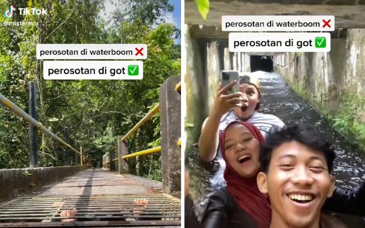 3 Sahabat Main Perosotan 'Waterboom'